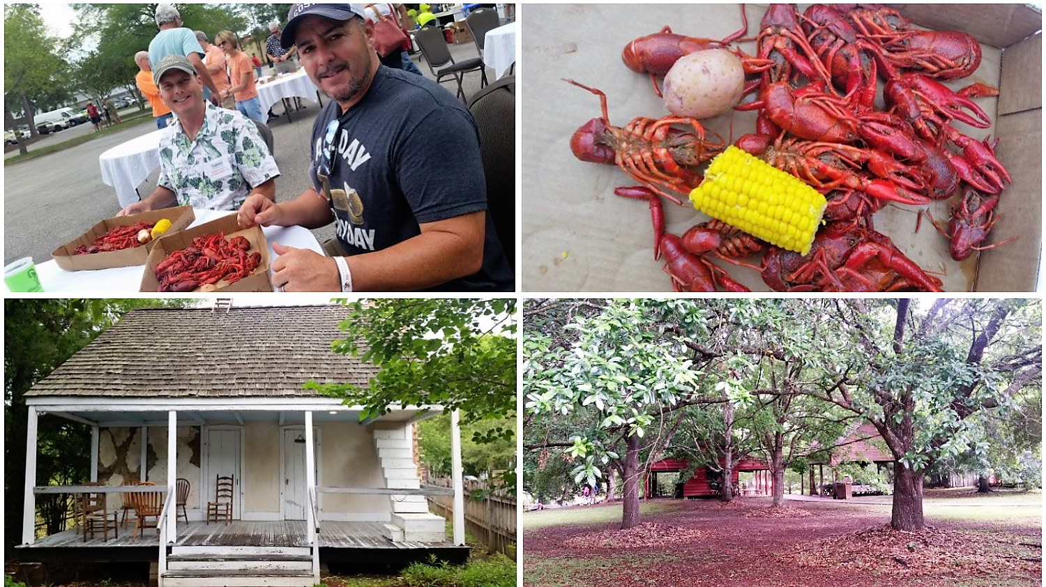 Crawfish at check in and a Vermillionville tour. 5f665be4b